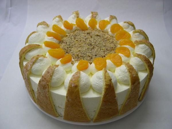 Orangen-Sahne-Torte